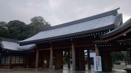 橿原神宮初雪
